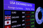 USA exchange rates — Stock Photo