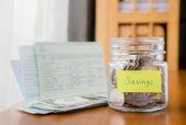 Budgeting, savings and money planning — Stock Photo