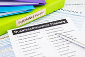 Business insurance planning checklist for risk management — Стоковое фото