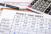 Calculating employee working time — Stock Photo