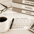 Payroll time sheet for human resources, sepia tone — Stock Photo #61521079