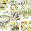 Set of money images, new dollar banknotes collage and collection — Foto de Stock   #62031767