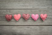 Pink tone handmade love sweet hearts for valentine's day  — Stock Photo