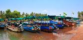 CANDOLIM, GOA, INDIA - 11 APR 2015: Sinquerim-Candolim Boat Owners Association in Goa, India. — Stock Photo