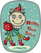 Greeting Card Happy New Year — Stock Vector