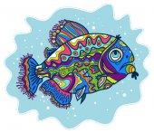 Bright decorative fish — Stock Vector