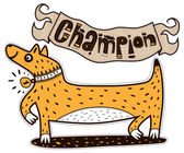 Cute animal champion — Stockvector
