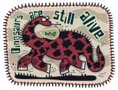 Running dark red dinosaur — Stock Vector
