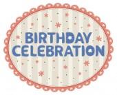 Birthday card celebration — Stock Vector