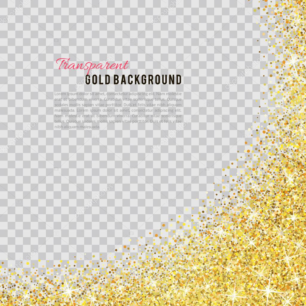 Gold glitter bright vector transparent background golden sparkles - Gold Glitter Texture Isolated On Transparent Background Vector Illustration For Golden Shimmer Background Sparkle Sequin Tinsel Yellow Bling