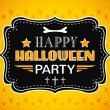 Happy Halloween Party card. Typography letters font type — Stock Vector #52409439