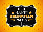 Happy Halloween Party card. Typography letters font type — Stock Vector