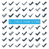 Set of different vector check marks or ticks — Stockvektor