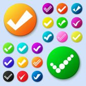Set of different vector simple circle shape internet button — Cтоковый вектор