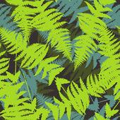 Seamless pattern of fern leaves. Vector illustration — Stock Vector