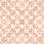 Seamless pattern with abstract pink flowers on white background. — Stock Vector