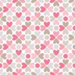 Floral vector seamless pattern. Red, pink, gray, brown and white — Stock Vector #53946297