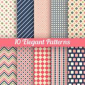 Elegant vector seamless patterns — Stock Vector