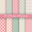 Pretty pastel vector seamless patterns — Stock Vector #54416061