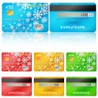 Set of realistic credit card two sides. Vector illustration — Stock Vector #55238737