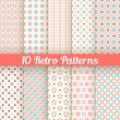 Retro different seamless patterns. Vector illustration — Stock Vector #55626423