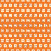 Greek vector seamless pattern. Orange and white colors — Stock Vector