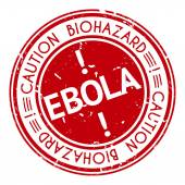 Red stamp with Ebola concept text on white background — Stock Vector