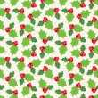 Seamless pattern of holly berry sprig.  Vector illustration — Stock Vector #57949541