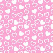 Patrón geométrico sin fisuras con corazones. ilustración vectorial — Vector de stock