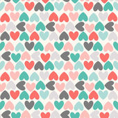 Floral vector seamless pattern. Red, green, black and white — Stock Vector