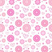 Romantic seamless pattern. Vector illustration — ストックベクタ