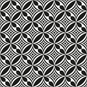 Black and white abstract seamless pattern. Vector illustration — Stock Vector