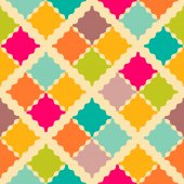 Retro colorful seamless pattern. Vector illustration — Vetorial Stock