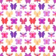 Cute seamless vector pattern of colorful butterfly silhouettes — Stock Vector #60866423