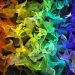 Rainbow color digital fractal flowing over black background — Stock Video #60938809
