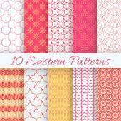Eastern seamless pattern set. Vector illustration for holiday design — Stock Vector