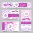 Set of corporate identity templates with doodles tribal theme — Stock Vector #69629563