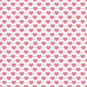Heart shape vector seamless pattern. Pink color — ストックベクタ