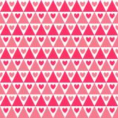 Heart shape vector seamless pattern. Pink color — Stock Vector