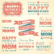 Happy Mothers day. Set of cute elements. Vector illustration — Vector de stock  #70339087