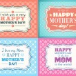 Happy Mothers day card set. Typography letter font type — Stock Vector #71038157