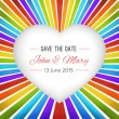 Rainbow heart background with Save the date. Vector illustration — Stock Vector #72978917