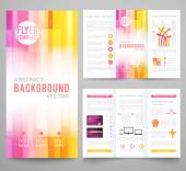 Set of abstract bright background for flyer, brochure template — Stock Vector