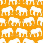 Animal seamless vector pattern of elephant — Stock Vector