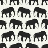 Animal seamless vector pattern of elephant — ストックベクタ