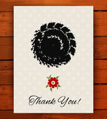 Grunge vintage card with black hand drawn textures — Stock Vector