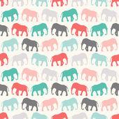 Djurens sömlös vektor mönster av elefant — Stockvektor