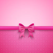 Romantic  pink background with cute bow and pattern — Stock Photo