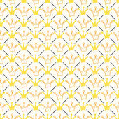 Simple seamless  pattern with crown and line. Orange, whit — ストック写真