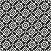 Black and white abstract seamless pattern.  illustration — Stock Photo